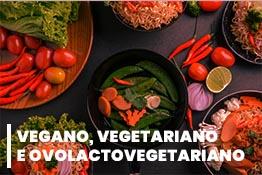 Vegano, Vegetariano e Ovolactovegetariano